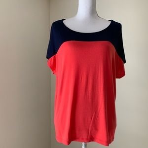 3 for $15 Forever 21 navy Coral colorblock Tee